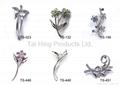 Metal Brooch - Flower Series 04~05