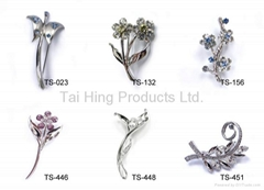 Metal Brooch - Flower Series 04~05