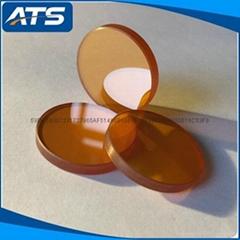 99.99% Zinc selenide circle cutting piece vacuum coating material