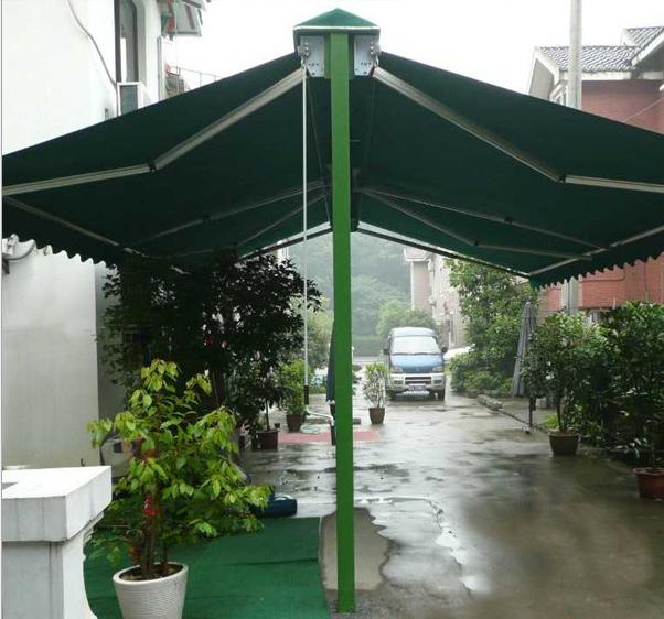 苏州雨蓬推拉伸缩雨棚 2