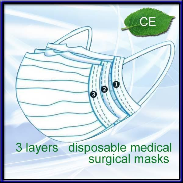 3 layers disposable medical surgical face mask 2