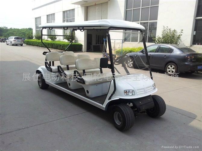 新款上海6座电动高尔夫球车 1