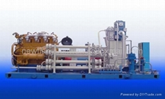 Water Cooling CNG Compressor Driven by Gas Engine