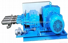 Cryogenic centrifugal pump with large flowing
