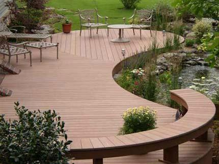 木塑景观材料 户外防滑地板 1