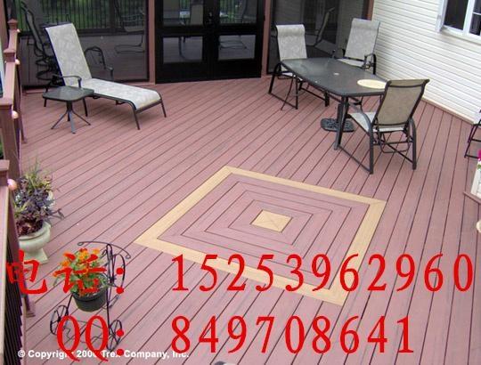 木塑景观材料 户外防滑地板 3