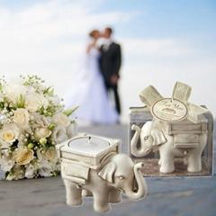 欧式创意新款大象蜡烛烛台
