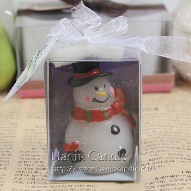 圍巾禮品雪人創意聖誕蠟燭 2