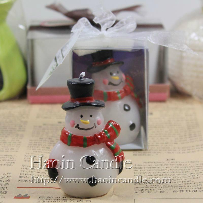 圍巾禮品雪人創意聖誕蠟燭 4