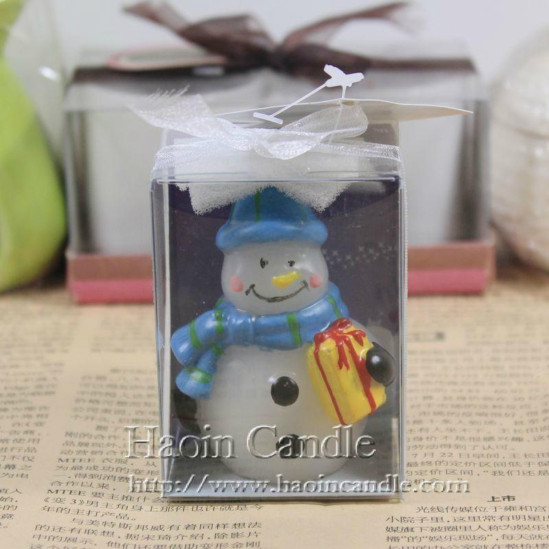 圍巾禮品雪人創意聖誕蠟燭 5