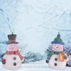 圍巾禮品雪人創意聖誕蠟燭