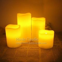 """黄光浪口3"""" 4"""" 5"""" 6""""电子LED蜡烛"""