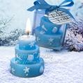 歐式創意藍色蛋糕生日蠟燭