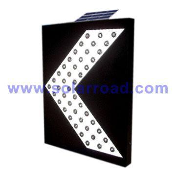 Solar Powered LED Directional Arrow Sign 1