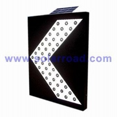 Solar Powered LED Directional Arrow Sign