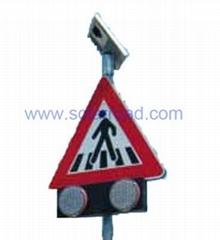 Solar pedestrian signs