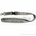Custom Printed Polyester Lanyards with Detachable Buckle&Snap Hook