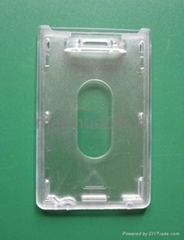 Hard Plastic Card Holder in Portrait Style Only
