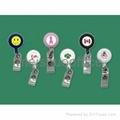 Retractable Badge Holder with Epoxy Logo