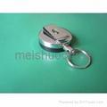 Metal Belt Retractable ID Key Ring