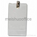 Vertical PVC name badge holder with