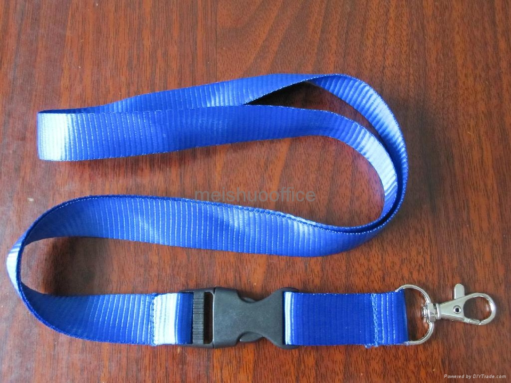 Custom Printed Polyester Lanyards with Detachable Buckle&Snap Hook 2