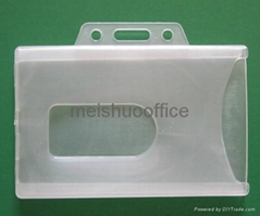 Enclosed Id Card Holder Hold 2 Cards