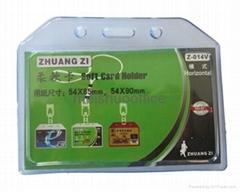Soft Plastic Working ID Badage Card Holder