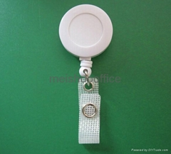 Retractable Reel Identity ID Card Pass Badge Holder with Reinforced Strap