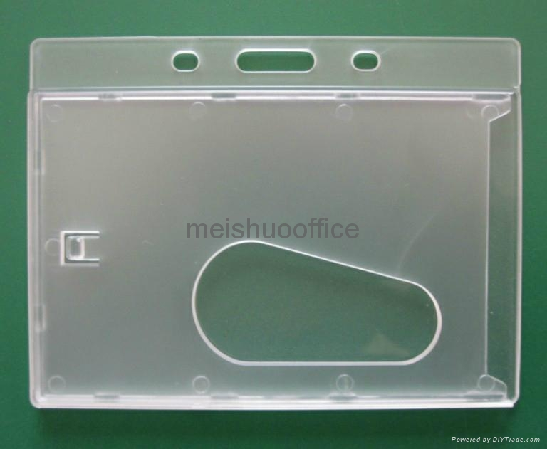 Enclosed Id Badge Holder with Thumb Slot   1