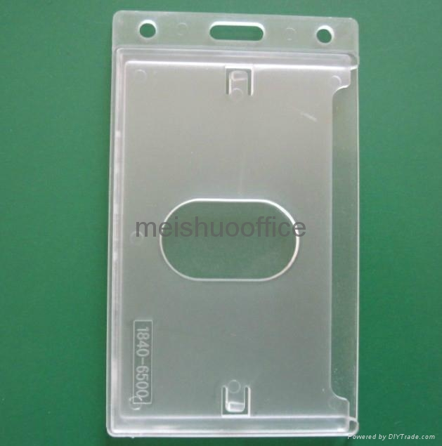 Enclosed Id Badge Holder with Thumb Slot   3