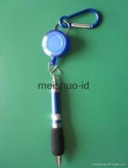 Retractable Badge Reel Pen Belt Clip and Carabiner