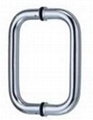 Stainless steel pull handle fire rated lock 1