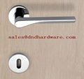 Stainless steel pull handle fire rated lock