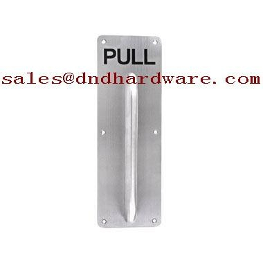 Stainless steel plate handle ASSA ABLOY door handle