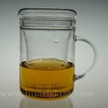 Glass Cup With Infuser & Lid