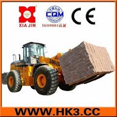 25Tons granites forklift loader block handler arrangement