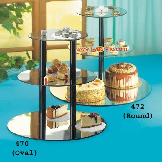 acrylic mirror cupcake display