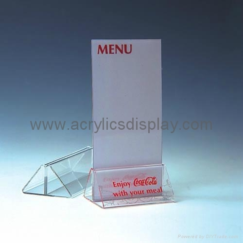 acrylic table tent