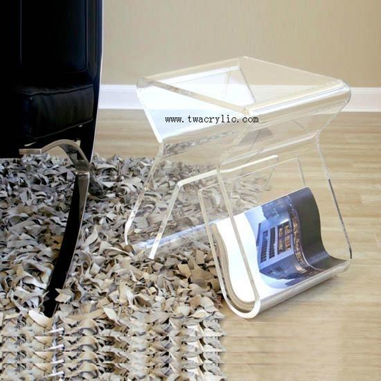 acrylic nest table