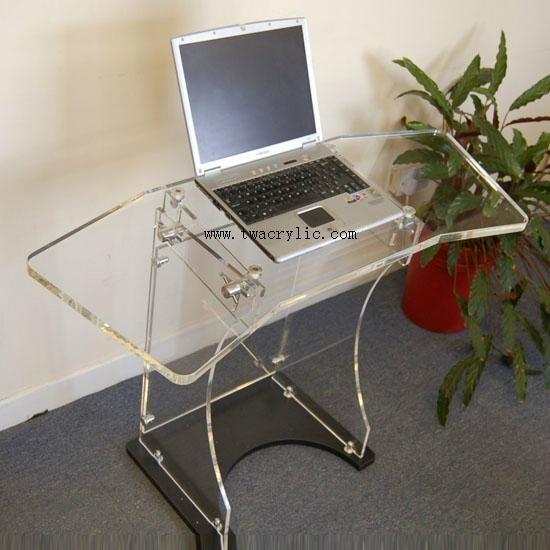 acrylic computer table