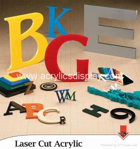 Acrylic sign letters
