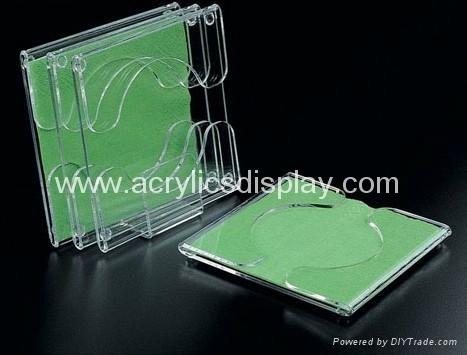 acrylic coaster holder