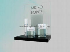 lucite acrylic cosmetic display stand