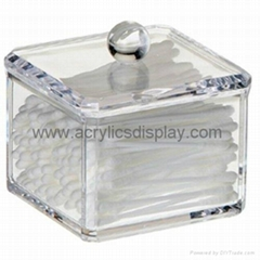 acrylic cotton box cotton case
