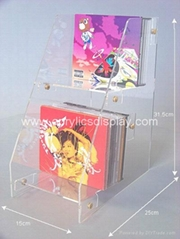 acrylic DVD CD display stand