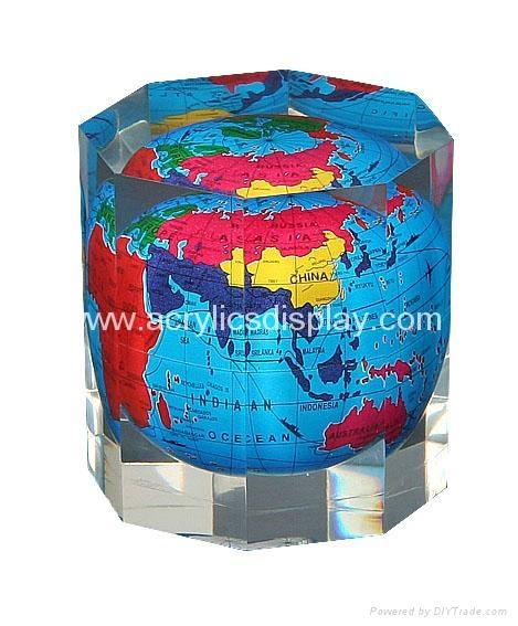 lucite globe