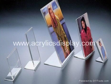 Acrylic L shape sign holder