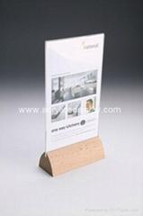 acrylic wood table tents
