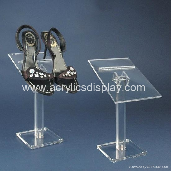 acrylic shoes display holder stand